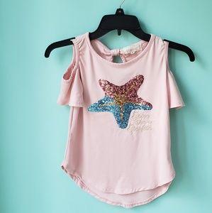Other - Pink cold shoulder top
